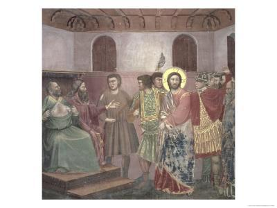 Christ Before Caiaphas, circa 1305-Giotto di Bondone-Giclee Print