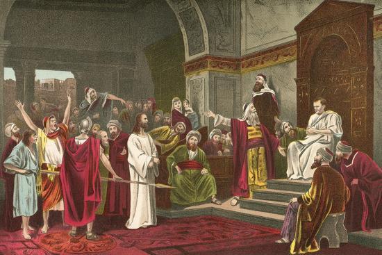 Christ before Pilate-Mihaly Munkacsy-Giclee Print
