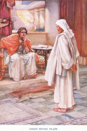 Christ before Pilate-Arthur A^ Dixon-Giclee Print