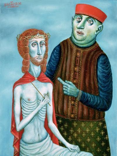 Christ before Pontius Pilate, 1985-Tamas Galambos-Giclee Print