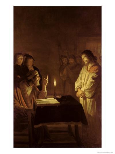 Christ Before the High Priest, 1617-Gerrit van Honthorst-Giclee Print
