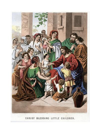 Christ Blessing Little Children, Mid 19th Century-Kronheim & Co-Giclee Print