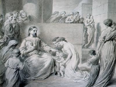 Christ Blessing Little Children-Warwick Brookes-Giclee Print