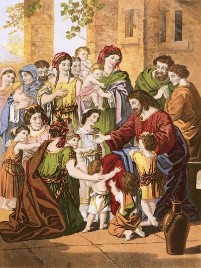 Christ Blessing Little Children-English-Giclee Print