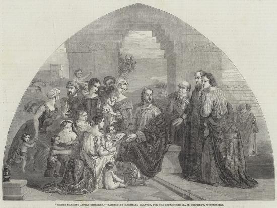 Christ Blessing Little Children-Marshall Claxton-Giclee Print