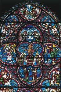 Christ Blessing, Stained Glass Window of Bourges Cathedral