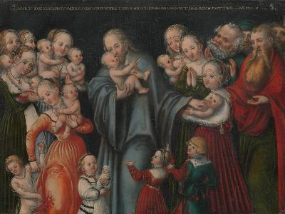 Christ Blessing the Children, c.1545-50-Lucas the Younger Cranach-Giclee Print