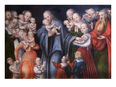 Christ Blessing the Children-Lucas Cranach the Elder-Art Print