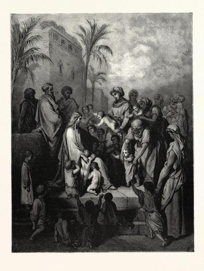Christ Blessing the Children-Gustave Dore-Giclee Print