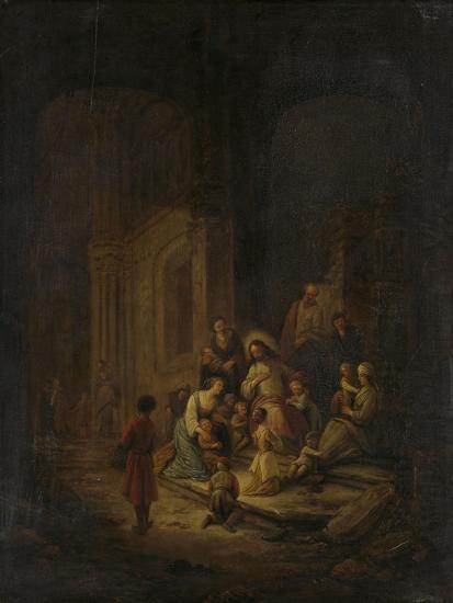 Christ Blessing the Little Children-Jacob de Wet-Art Print