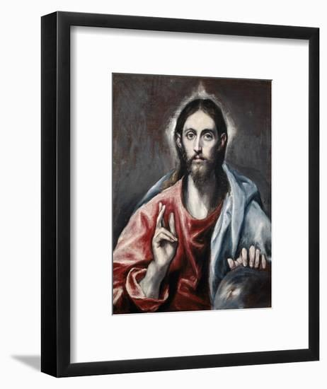 Christ Blessing ('The Savior of the World')-El Greco-Framed Giclee Print