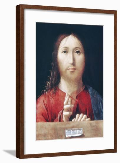 Christ Blessing-Antonello da Messina-Framed Art Print