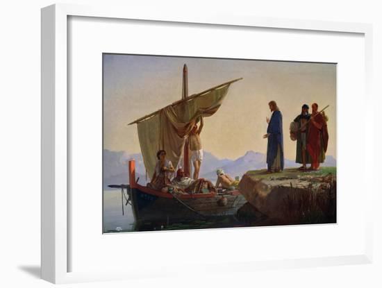 Christ Calling the Apostles James and John, 1869-Edward Armitage-Framed Giclee Print