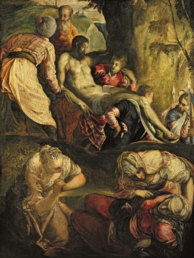Christ Carried to the Tomb, Late 1550s-Jacopo Robusti Tintoretto-Giclee Print