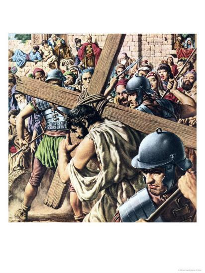 Christ Carrying His Cross-Jack Hayes-Giclee Print