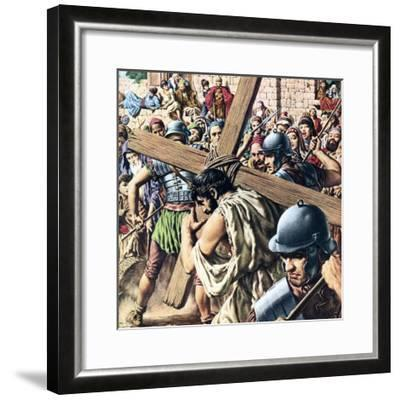 Christ Carrying His Cross-Jack Hayes-Framed Giclee Print