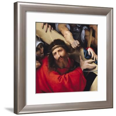 Christ Carrying the Cross, 1526-Lorenzo Lotto-Framed Giclee Print