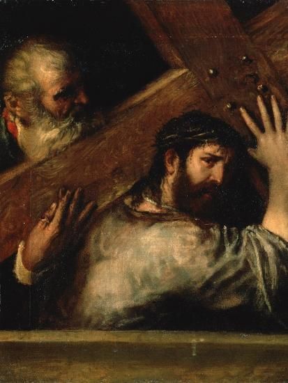 Christ Carrying the Cross, 1560S-Titian (Tiziano Vecelli)-Giclee Print