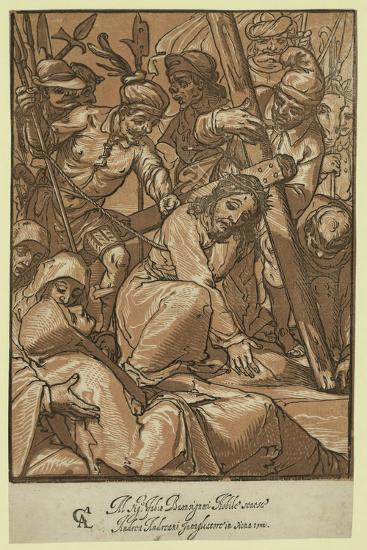 Christ Carrying the Cross, Andreani, Andrea, Approximately 1560-1623--Giclee Print
