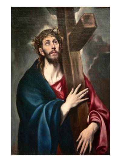 Christ Carrying the Cross by Greco-El Greco-Art Print