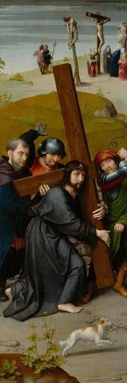 Christ Carrying the Cross, with the Crucifixion, c.1510-Gerard David-Giclee Print