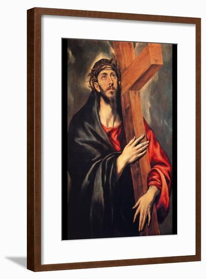 Christ Carrying the Cross-El Greco-Framed Art Print