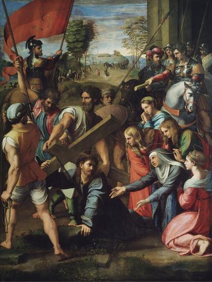 Christ Carrying the Cross-Raphael-Giclee Print