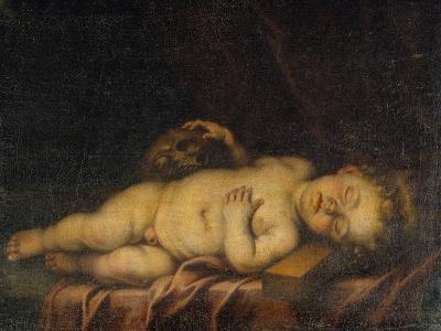 Christ Child Asleep on the Cross-Bartolome Esteban Murillo-Giclee Print