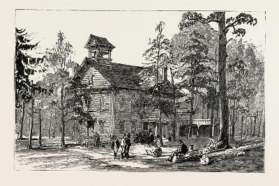 Christ Church and Public School--Giclee Print