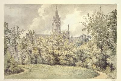 Christ Church Cathedral from the Dean's Garden, 10 June 1775-John Baptist Malchair-Giclee Print