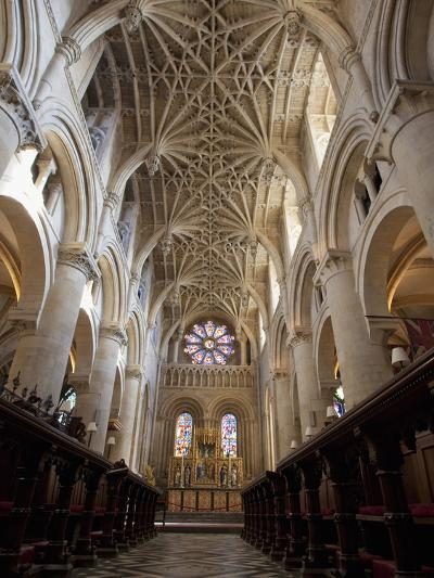 Christ Church Cathedral Interior, Oxford University, Oxford, England-Peter Barritt-Photographic Print