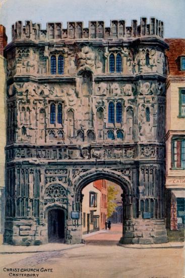 Christ Church Gate, Canterbury-Alfred Robert Quinton-Giclee Print