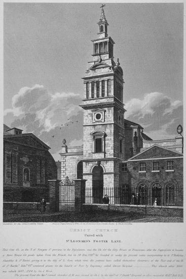Christ Church, Newgate Street, City of London, 1814-William Wise-Giclee Print