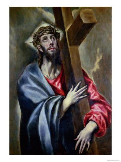 Christ Clasping the Cross-El Greco-Giclee Print