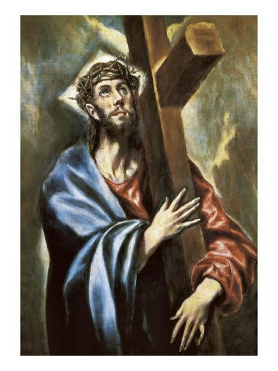 Christ Clasping the Cross-El Greco-Art Print