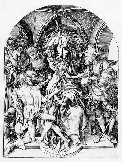 Christ Crowned by Thorns (Engraving)-Martin Schongauer-Giclee Print