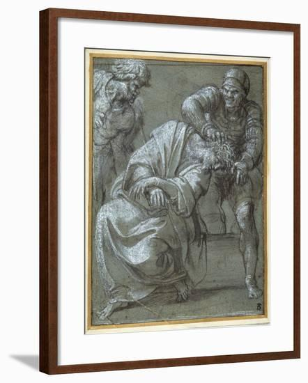 Christ Crowned with Thorns, 1605-06-Annibale Carracci-Framed Giclee Print