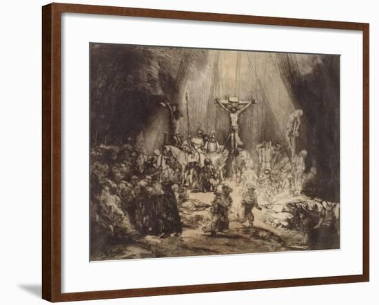 Christ Crucified between the Two Thieves: The Three Crosses, 1653-Rembrandt Harmensz. van Rijn-Framed Giclee Print