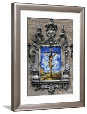 Christ Crucified, Decorative Tiles, Seville, Andalusia, Spain--Framed Giclee Print