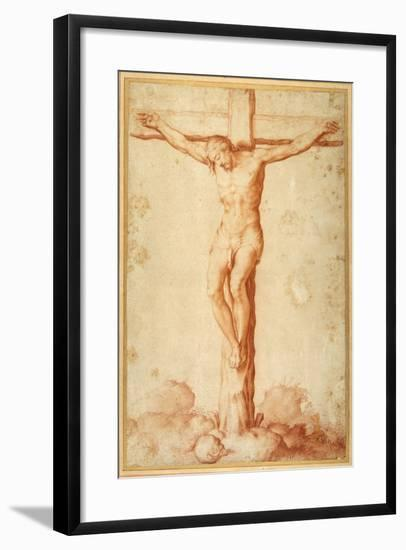 Christ Crucified on Golgotha--Framed Giclee Print