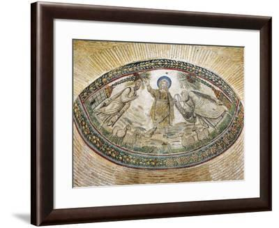Christ Delivering Divine Word to Saints Peter and Paul--Framed Giclee Print