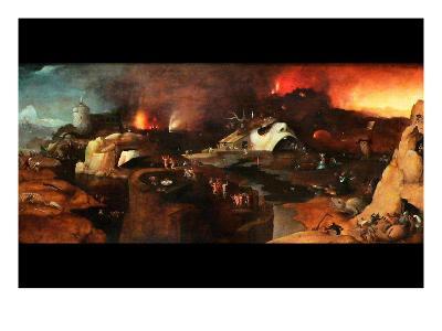 Christ Descent into Hell-Hieronymus Bosch-Art Print