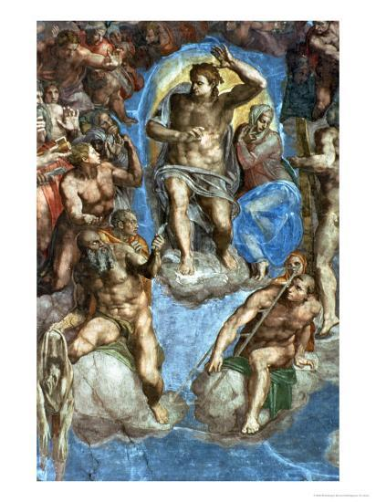"""Christ, Detail from """"The Last Judgement,"""" in the Sistine Chapel, 16th Century-Michelangelo Buonarroti-Giclee Print"""