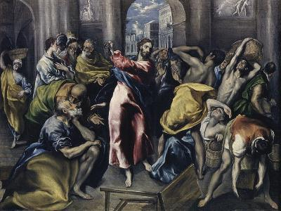 Christ Driving Moneychangers from Temple-El Greco-Giclee Print