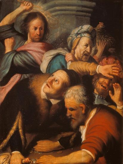 Christ Driving the Merchants from the Temple, 1626-Rembrandt van Rijn-Giclee Print