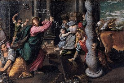 Christ Driving the Money Lenders from the Temple, 1580-1585-Ippolito Scarsellino-Giclee Print