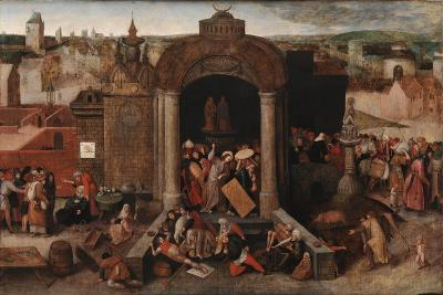 Christ Driving the Traders from the Temple, c.1570-5-Hieronymus Bosch-Giclee Print