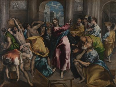 Christ Driving the Traders from the Temple, Ca. 1600-El Greco-Giclee Print