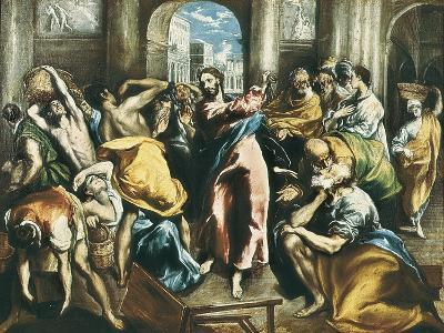 Christ Driving the Traders from the Temple-El Greco-Art Print