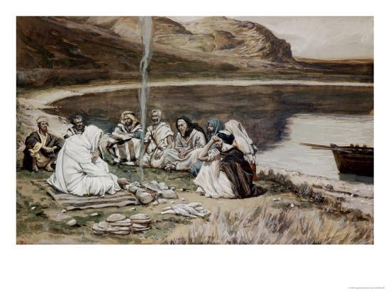 Christ Eating with His Disciples-James Tissot-Giclee Print